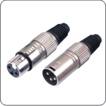 Cannon/XLR audio connector plug